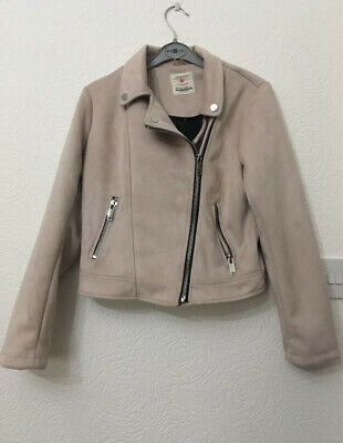 Girls Pale Pink Primark Jacket Age 12-13 In Excellent Condition