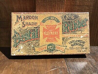 RARE Dental Rubber Maroon No6 Tin The Kleinert Best NY Amazing Colors
