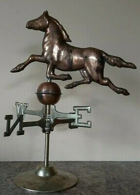 Copper HALLOW HORSE Weathervane W/ Directionals & Base