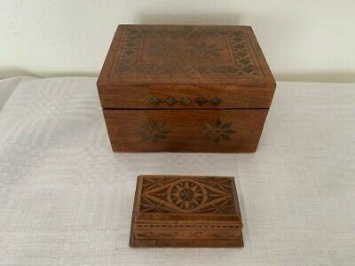 2 Small Vintage Wooden Boxes.