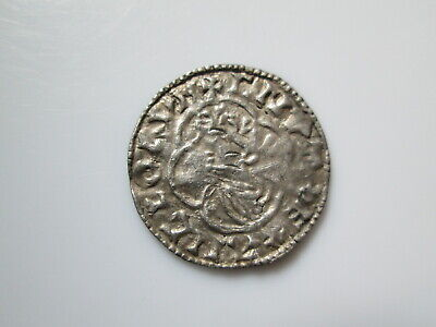 Englandy Anglo-Saxon 11century silver coin Cnut quaterfoil type Winchester penny