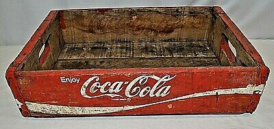 Vintage Enjoy Coca Cola Red Wood Crate