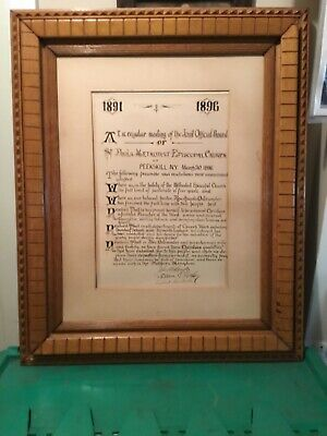 BEAUTIFUL Antique 19th Century Hand Crafted Oak Wood Frame, Large 23 x 28 x 2