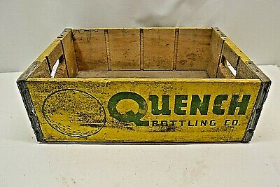 Vintage Quench Pepsi Cola Butte Montana Yellow Wood Crate