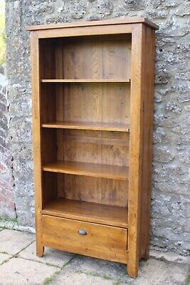 Awesome Victorian Design Solid Oak 4 - Tier Bookcase w Drawer