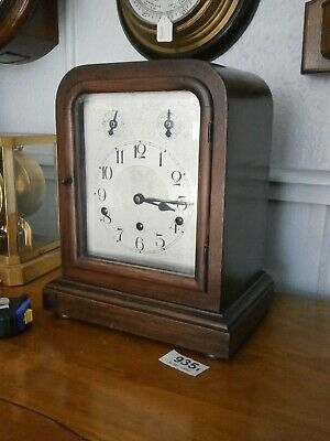 CLOCK BRACKET German Movement Westminster Chime mantle working engraved dial