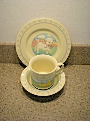 Baby Child's 3 piece dishes Plate Bowl Cup 1984 Hallmark VGC