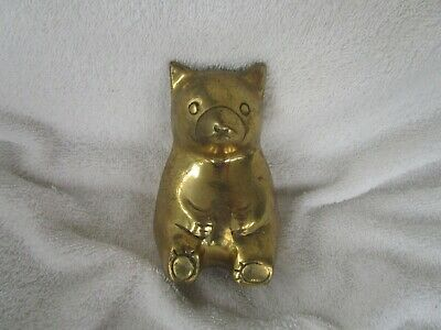 Vintage Solid Brass+Heavy Bear Bank ~~HIGH QUALITY!!~L@@K!