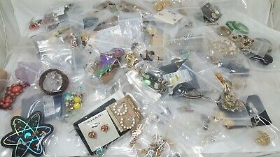 250 Pairs Vintage To Modern Huge Earrings Lot Costume Jewelry Pierced Clip-On