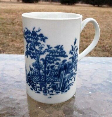 "Early Worcester DR. WALL 1st Period 1760  PLANTATION  - 5"" TANKARD PORTER MUG"