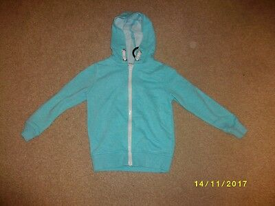 Girls Turquoise Long Sleeved Hooded Jacket Age 4-5 Years from George