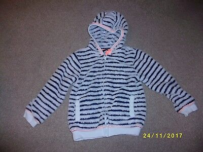 Girl's Navy and White Hooded Jacket Age 5-6 Years from George