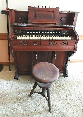 Antique Hillstrom Pump Organ TESTED AND WORKS GREAT
