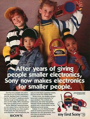 1987 My First Sony Vintage Print Ad