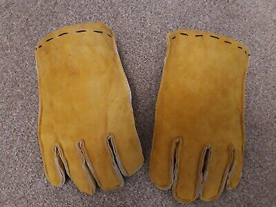 Leather Padded Reenactment Combat Gloves Gauntlets Medieval Larp Viking.