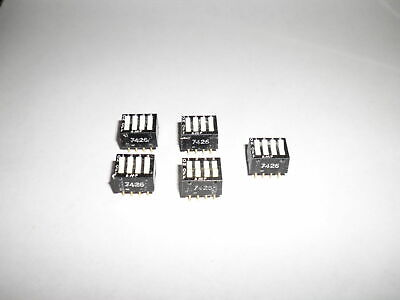 Lot of 5 AMP 8 pin Gold DIP IC 4 Rocker Switches for Arduino