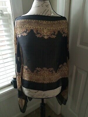 Jack & Missy Womens Carefree Convertible Poncho One Size buttons NWT