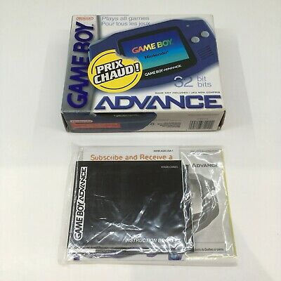 Nintendo Gameboy Advance GBA Box & Manuals Only NO CONSOLE