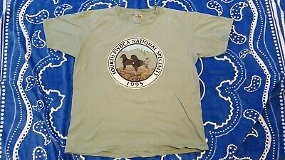 1995 Portuguese Water Dog Fourth PWDCA National Specialty Teal T-Shirt Large