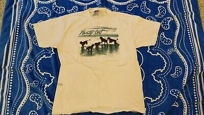 """Rare Vintage 1990's Portuguese Water Dog """"Party On"""" White T-shirt Size X-Large"""