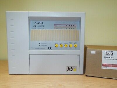 JSB 4 Zone Conventional Fire Alarm Panel FX2204CPD c/w battery. New & Boxed.