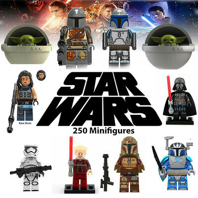 Star Wars 150 + Minifigures Mandalorian, Yoda, Obi, different compatible Lego