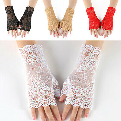 Women Embroidered Gloves Driving Glove Summer Hollow Out Lace Breathable Glove