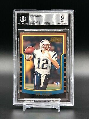 2000 Bowman #236 Tom Brady New England Patriots RC Rookie BGS 9 w/ 9.5