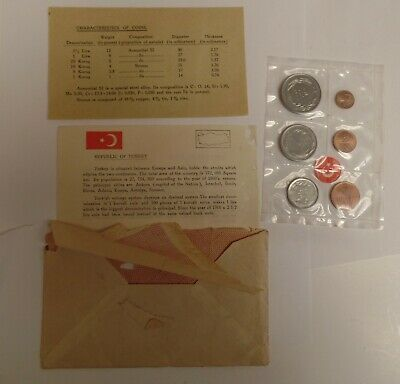 1965 Turkey coin set uncirculated from state mint