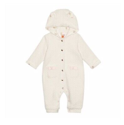 Baker by Ted Baker - Baby girls' cream textured snuggle suit 3-6 Months BNWT