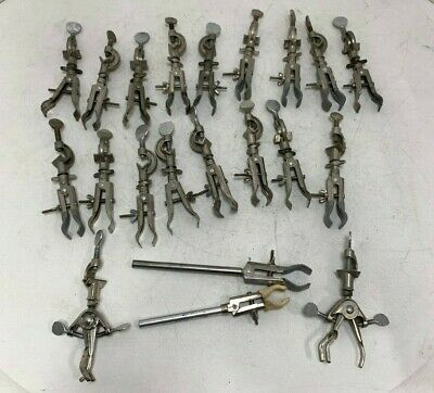 LOT OF 21 Precision Cast Alloy Lab Stand Clamps