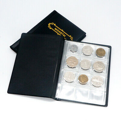 leather Coin Album Holder book display for 120 Coins within 28mm collection Gift