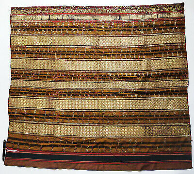 Indonesia/Sumatra Lampung Textile - Gold Brocade, Metal Decoration