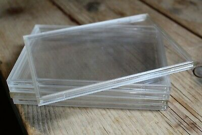 5x Empty Perspex Plastic Coin Cases For Royal Mint Proof Coin Sets