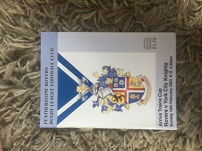 Featherstone v York arrival trains cup rugby League Programme 2003 season