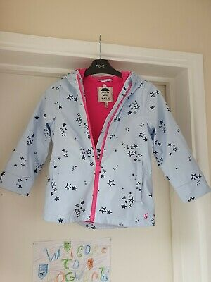 Joules Blue Star Print Coat Age 6 Years