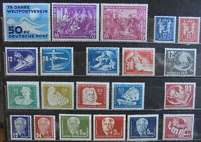 GERMANY (East) DDR 1949-51 Complete Issues 21 MNH