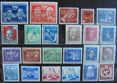 GERMANY (East) DDR 1950-52 Complete Issues 23 MNH