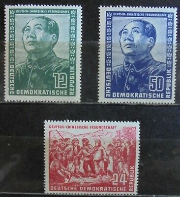 GERMANY (East) DDR 1951 Friendship With China, Complete Set of 3 MNH
