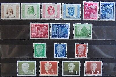 GERMANY (East) DDR 1952-53 Complete Issues 16 MNH