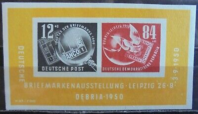 GERMANY (East) DDR 1950 DEBRIA, Mini-Sheet MNH