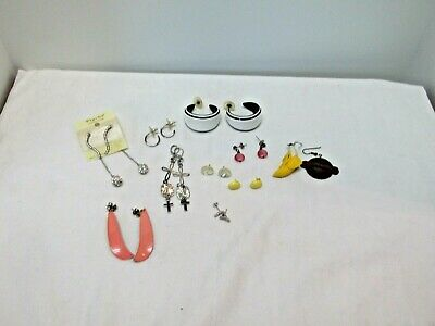 Lot of 10 Vintage To New Pierced Earrings, Great Variety, Great Value, #70f