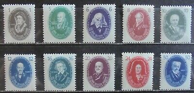 GERMANY (East) DDR 1950 250th Anniversary of Academy of Science, Set of 10 MNH