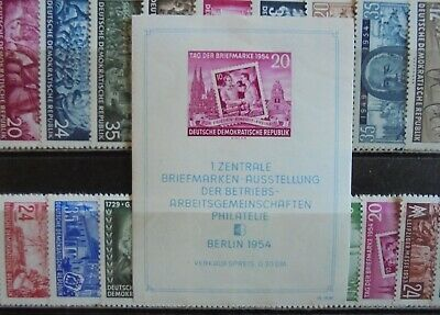 GERMANY (East) DDR 1953-54 Excellent collection of 44 + Mini Sheet MNH