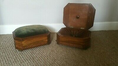 Antique Victorian footstools with original spittoon