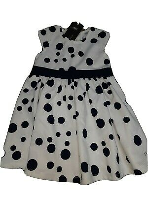 BNWT iDo Girls Navy & White Spotted Dress Q313 Age 24 Mths 2 Years 92cm