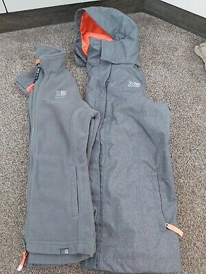 Karrimor 3in1Jacket Fleece Coat Grey. Age 11-12 Years.