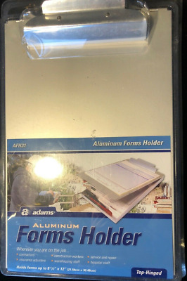 "NEW ADAMS Forms HOLDER, Bottom Hinge, 8.5 x 12"", Aluminum STORAGE Clipboard"