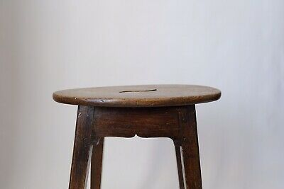 Antique early 1800s Oak peg jointed Stool