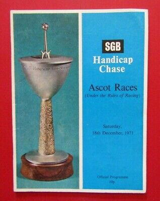 1971 Ascot SGB Hcap Chase - Spanish Steps, Specify, Pendil Wins Novice Chase